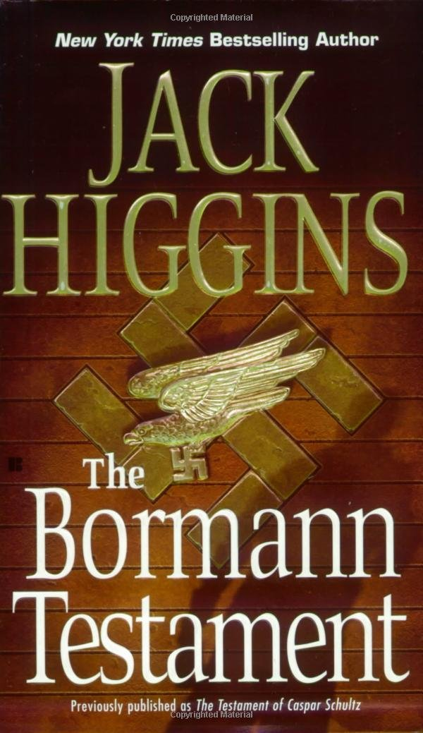 Book cover of The Bormann Testament